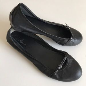 Cole Haan leather + buckle Nike air ballet flats